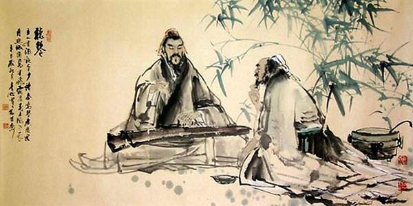 Lao Zi en Yin Xi met elkaar in gesprek